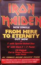 "40x60"" Bus Shelter Poster~Iron Maiden 1992 Tour From Here to Eternity Nos Orig.~"