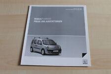 135996) Renault Kangoo - Preise & tech. Daten & Ausstattungen - Prospekt 03/2009