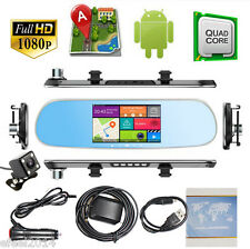 "5"" Android Car rearview mirror GPS+1080P Car DVR Dash Cam + Reverse CCD camera"