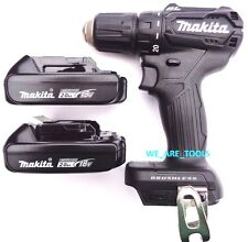 """New Makita 18V XFD11 Brushless 1/2"""" Drill Driver, (2) BL1820B Batteries Compact"""