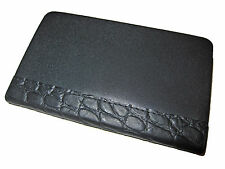 Ralph Lauren Black Alligator Embossed Leather Blank Diary Notebook Journal