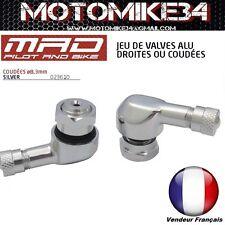 valve coudé x 2  ALU angle de 90 degrés moto  pneu vannes 8,3mm * 2 (TR412)