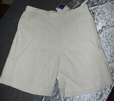 SZ 20 LINEN BLEND NATURAL ESSENTIALS SHORTS PULL ON STYLE BNWT