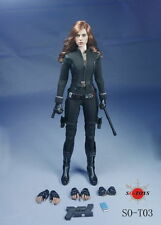 SO-Toys 1/6 Scarlett Johansson Black Widow Female Clothing Suits W Head Sculpt