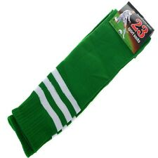 7 Colors Football Striped Tube Socks Soccer lacrosse Rugby Sport Knee High Socks