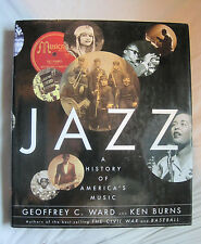 Jazz History of America's Music by Geoffrey Ward & Ken Burns~HC w/dj~LBDEE