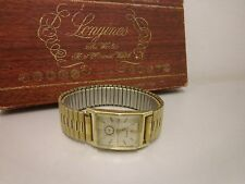 Men's Genuine Longines Watch 14kt Solid Gold working condition 1950's