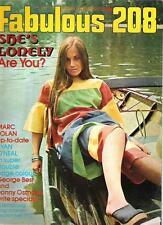 FABULOUS 208 UK magazine 11-9-1971 Marc Bolan Ryan O'Neal George Best