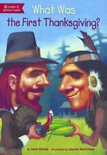 What Was The First Thanksgiving? (Turtleback School & Library Binding -ExLibrary