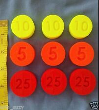 LOT 9 Replacement Coins compatible Fisher Price Cash Register 2044 & 926 91-94