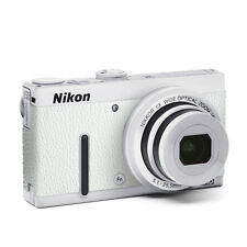 Camera Leather decoration stickers for Nikon COOLPIX P330 Snow white