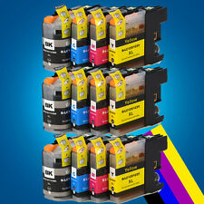 12 XL Chipped Ink Cartridge for Brother LC125 LC127  DCP J4110DW MFC J4410DW   2