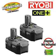 Ryobi P184 P105 2 Pack 18V High Capacity Lithium-Ion Battery ZRP105 Recond