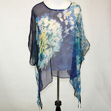 NWT Cocoon House Wearable Art Make A Wish Sheer 100% Silk Pointed Top Large / XL