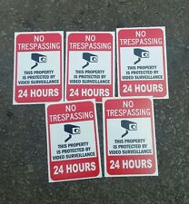 VIDEO SURVEILLANCE Security Decal  Warning Sticker (24h.. 2.25x3.325)set of 5pcs
