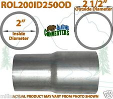 "2"" ID to 2 1/2"" OD Universal Exhaust Pipe to Component Adapter Reducer"