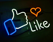 Like Facebook Beer Bar Neon Signs Lights Club Handcrafted Home Decor Wall Poster