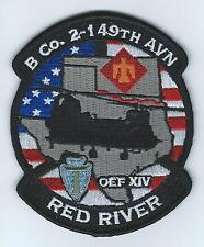 "B CO 2-149TH AVN OEF XIV ""RED RIVER""  patch"