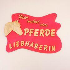 tolle Geschenkidee für Pferdeliebhaber, Türschild aus Holz in Pink, Pferd