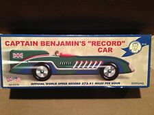 "Schylling Captain Benjamin's ""Record"" Car #1364 Tin Toy Wind Up New in Box RARE"