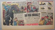 "Phillip Morris Cigarette Ad: ""Horse Riding Tips"" from 1950's 7.5 x 15 inches"