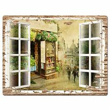 PP0593 French Window Scenery Chic Sign Shop Store Cafe Home Room Kitchen Decor