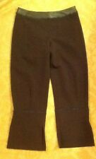 PANTS SUPER SALE!!! Crimson by ANNA PIANURA green ITALY Couture cropped sz 44
