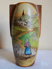 vase en terre cuite - bergère - signé Verdieu