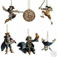 Disney Storybook Ornament Set: Pirates of the Caribbean Jack Sparrow Will NEW