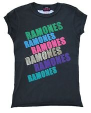 AMPLIFIED THE RAMONES Strass Rock Star Vintage Cosido Fuera Camiseta T-Shirt S