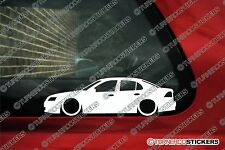 2x LOW Saab 9-3 (2002-2008)  Sedan, Lowered outline euro car stickers Decals