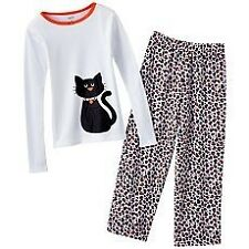 Carter's ~ Black Kitty CAT PAJAMAS SET ~ Size 4 ~ NWT