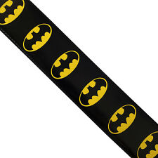 2522 faux leather guitar strap BATMAN logo retro cartoon bat man d.c. comic hip
