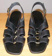 Sandale à talon marque « Trotin gum » en cuir noir pointure 39