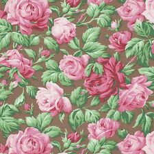 SEPIA ROSE GARDEN FLORAL ROSES BROWN #3670 COTTON QUILT SEW ROWAN FABRIC