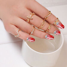 1 Set 7pcs Women&Lady New Bowknot Knuckle Midi Mid Finger Tip Stacking Rings