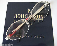 Boucheron France 51-19 Rhodium filled Eyeglass H.Rimless Womens Mens EU Cartier