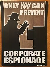 Tin Sign Vintage Fallout Only You Can Prevent Corporate Espionage