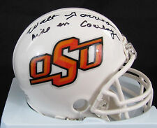 Walt Garrison Oklahoma State University OSU Autographed Mini Helmet w Inscriptn