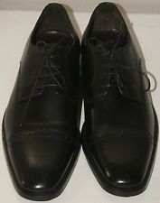 New To Boot New York Black Leather Lace-Up Oxfords 10.5