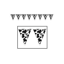 COWBOY WESTERN COW PRINT RANCH PARTY BUNTING FLAG BANNER FOR BIRTHDAY PARTIES!