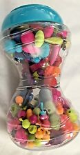 "Multicolor 5x9"" Jar of POP Beads Toy Jewelry - Make Necklaces Bracelets ETC"