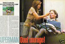 Coupure de Presse Clipping 1995 (3 pages) Christopher Reeve Superman