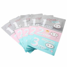 3Pcs Holika Holika Pig-Nose Clear Black Head 3-STEP KIT Strips Packs Masks Peel