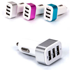 Triple Universal USB Car Charger 3 Port Car Charger Adapter Socket 2A 2.1A 1A