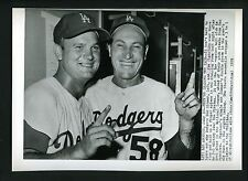 Don Zimmer & Joe Pignatano 1959 Press Photo Los Angeles Dodgers