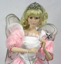 """Gorham Porcelain Doll """"Melinda, the Tooth Fairy"""" in BOX with Wand & Stand 1992"""