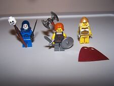 LEGO® minifigure He-MAN lot skeletor she-ra castle series cape round shield hood