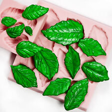 Rose leaf mold set create 13 leaves at once fondant candy polymer clay  (201)