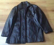Tk.maxx women Real Leather dark brown  jacket size 40
